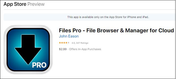 Files Pro app