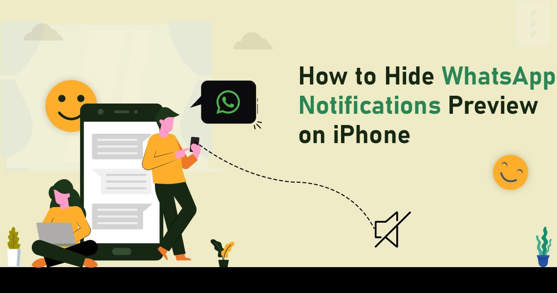 Hide WhatsApp Notifications Preview on iPhone