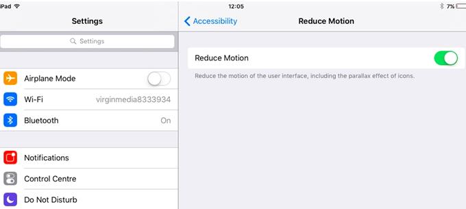 Reduce Motion option