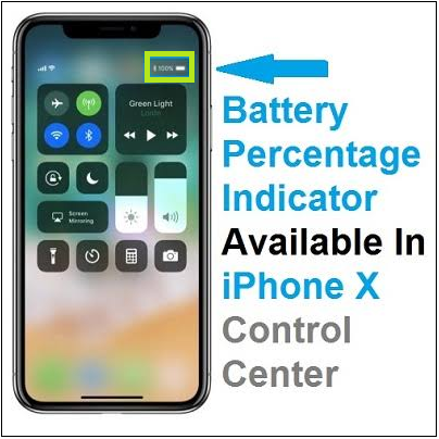 Show Battery Percentage on iPhone X