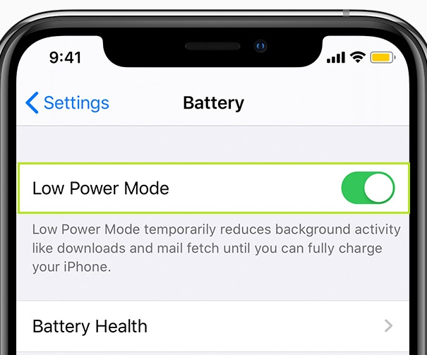 Use Low Power Mode