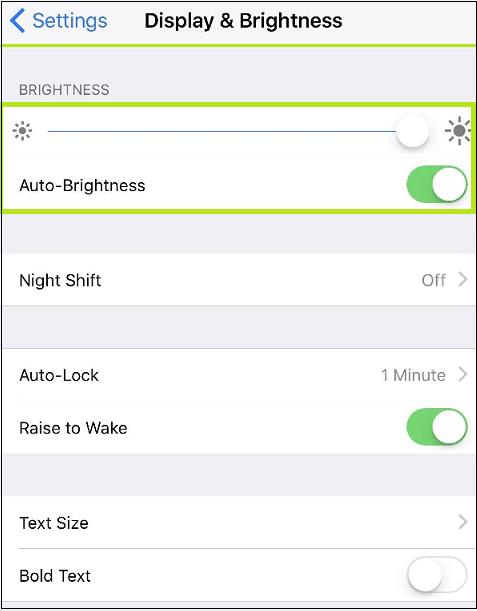 enable brightness