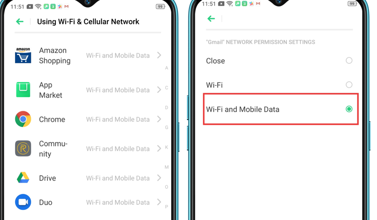 enable weather to utilize both wifi and cellular