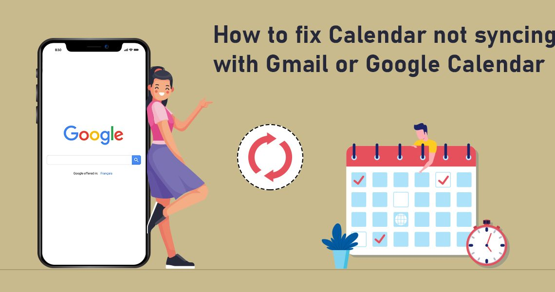 fix Calendar not syncing with Gmail