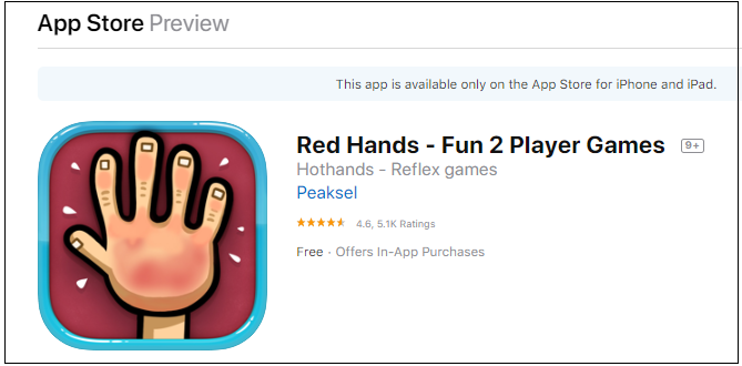 red hands app