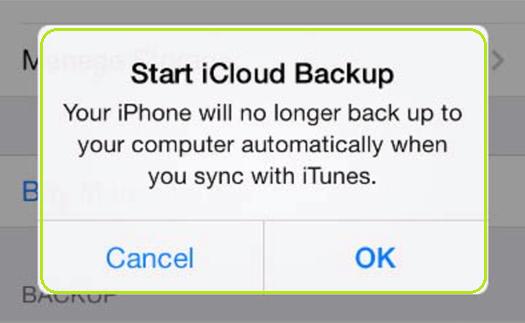 start iCloud Backup