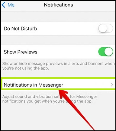 Notification off in Messenger