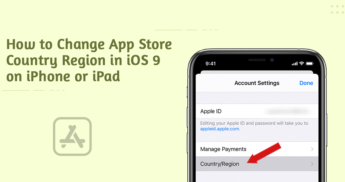 Change App Store Country Region