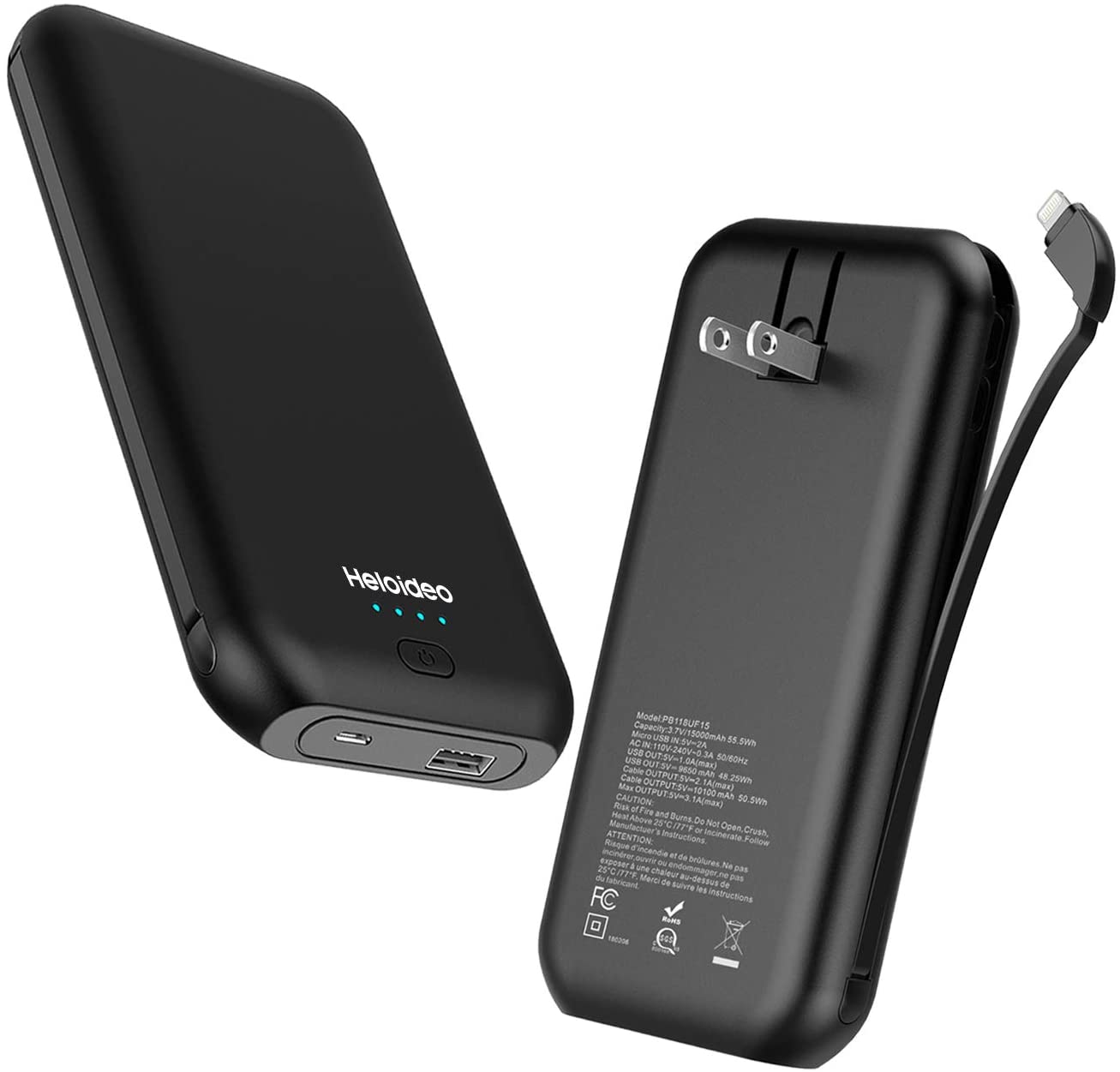 15000mAh Power Bank With AC Plug From Heloideo