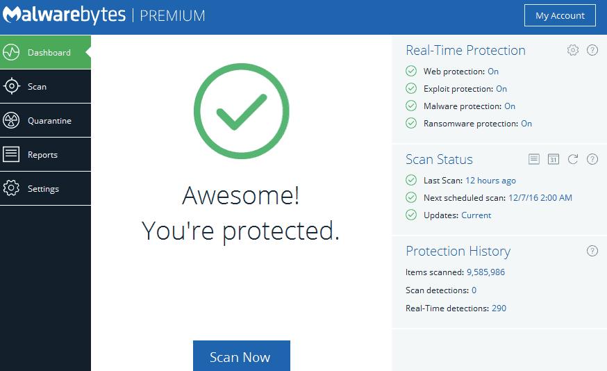 Malwarebytes Premium Antivirus Features