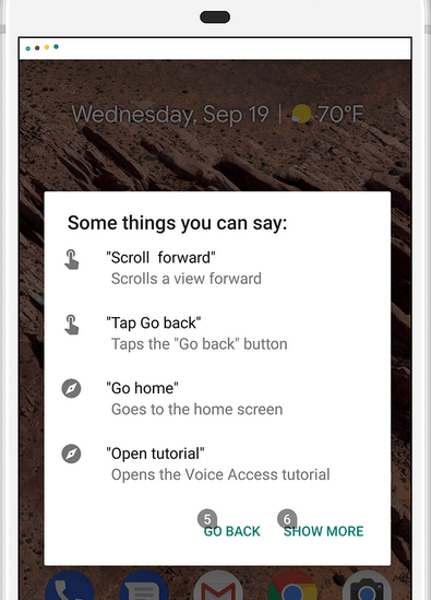 open Google Voice Assistant in phone
