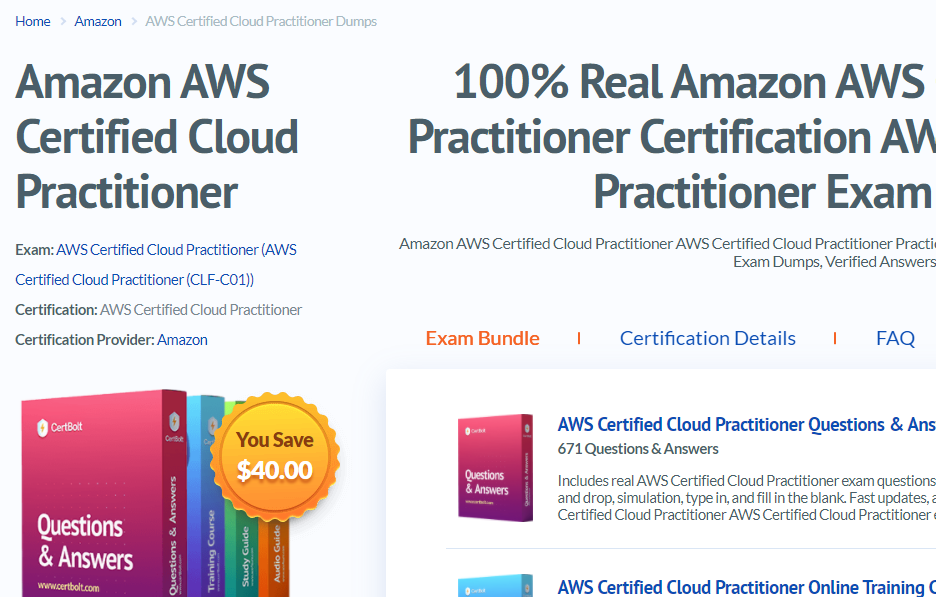 Amazon AWS Certbolt
