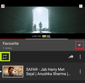 Loop a YouTube Video on Android Phone