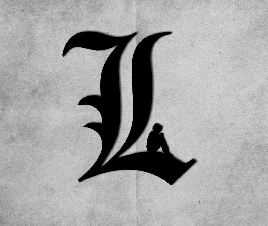 L Logo Death Note Wallpaper