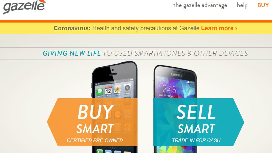gazelle: app for refurbished iPhone